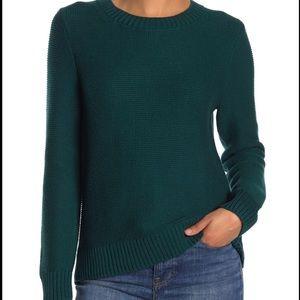 J Crew Emerald Green Sweater L NWT